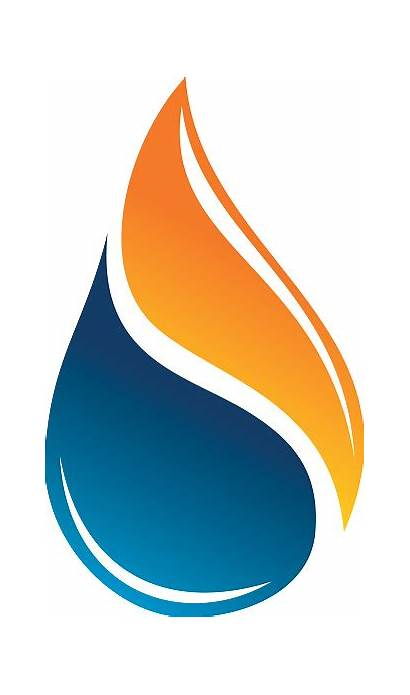 Oil Water Gas Flame Drop Fire Heating