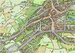 One process for drawing bird's-eye view maps of your local ...