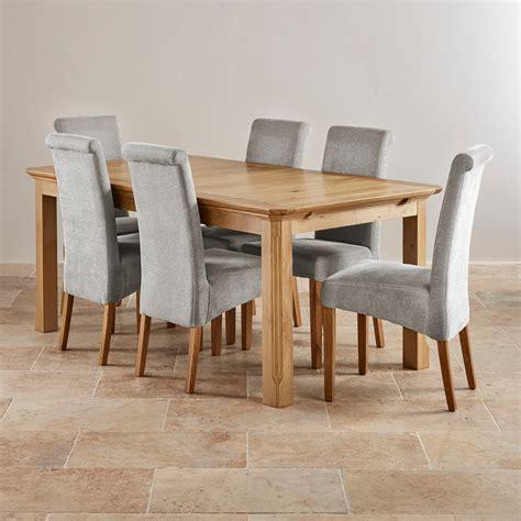 Edinburgh Extending Dining Set In Oak Dining Table + 6 Chairs
