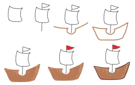 How To Draw A Pirate Boat by Thanksgiving Marshmallows Food Craft For