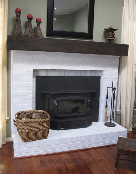 fireplace mantels for easy faux railroad tie mantel scavenger chic
