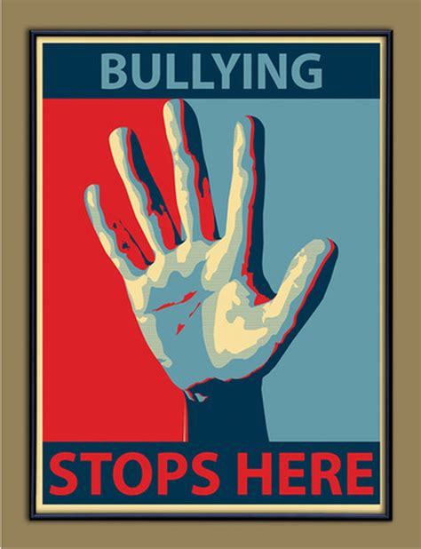 bullying stops  anti bullying classroom poster echo lit