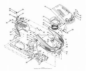 Mtd 13au604h401  2000  Parts Diagram For Hood  U0026 Fuel Tank