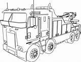 Coloring Truck Pages Diesel Trailer Printable Getcolorings sketch template