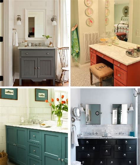 a bathroom remodel painting the vanity for a custom look