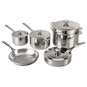 oster brookfield  piece cookware set copper contemporary cookware sets  bargainall