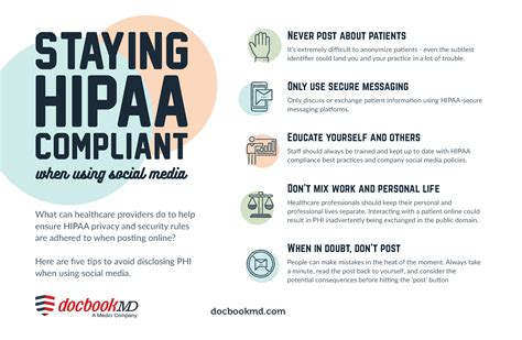 advice  staying hipaa compliant   social media