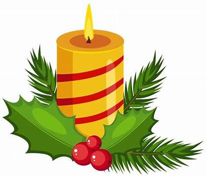 Holly Candle Clipart Christmas Clip Candles Transparent