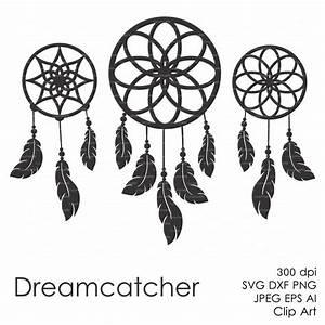 Dream catcher silhouette clipart