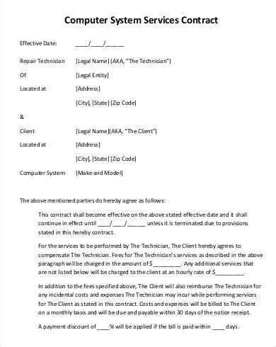 service contract template    documents