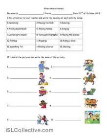 Free Time Activities Worksheet  Free Esl Printable Worksheets Made By Teachers  Esl Worksheets
