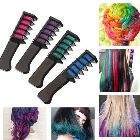 Temporary Dye Color Hair Chalk Soft Pastel Cream Comb