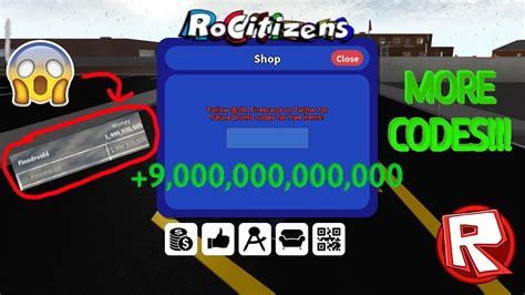 rocitizens  money codes working january