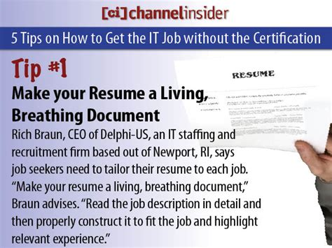 Hiring That Don T Require A Resume by 5 Tips To Get That It When You Don T The Certification Careers News From Channel Insider
