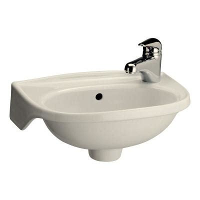 Bathroom Sinks At Home Depot by Pegasus Tina Wall Mounted Bathroom Sink In Bisque 4 551bq