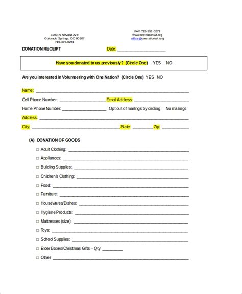 receipt template   word  documents