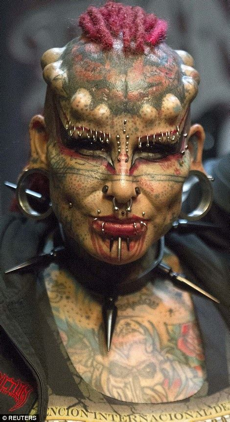 Modification Artist Known As Skull by Fans Show Their Horns And Inkings At Ecuador