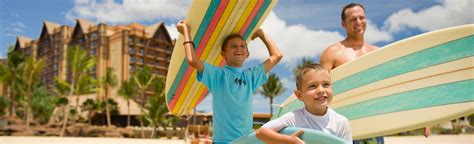 activities aulani hawaii resort amp spa 450 | Aulani actvities page dad and sons surfing hero