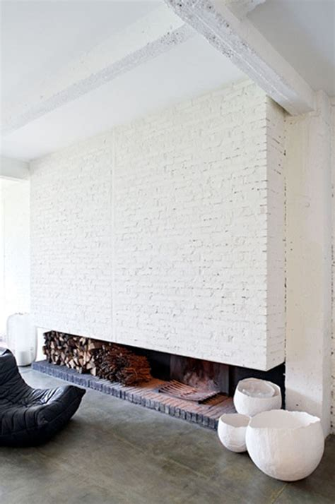 painted brick fireplace inspiration chic fireplaces 1 the bohmerian Modern