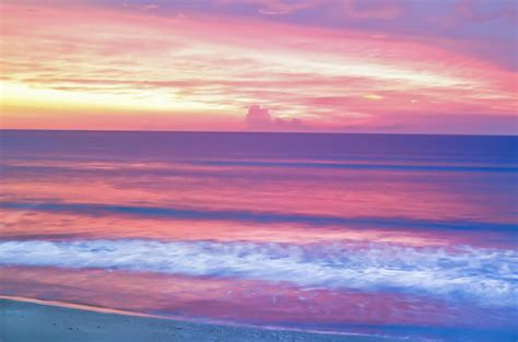 Light Purple Shower Curtain Pink Ocean Sunrise Photograph By Patrick M Lynch