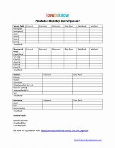 best photos of monthly bill spreadsheet monthly bill With monthly organiser template