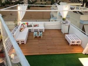 Lounge Sofa Mit Dach : lounge auf dem dach mit holzpaletten wohnideen einrichten ~ Bigdaddyawards.com Haus und Dekorationen