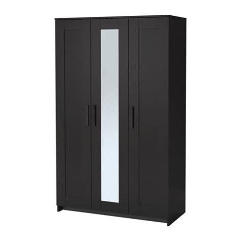 Kleiderschrank Ikea Schwarz by Brimnes Wardrobe With 3 Doors Black Ikea
