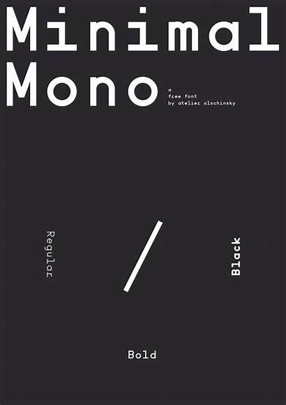 Font Minimal Mono Befonts Sans Display
