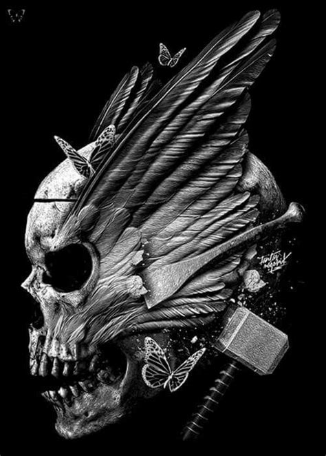 Skully valkyrie anf thor's hammer …   Into the Glade   Skull…
