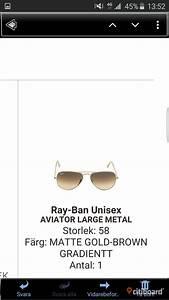 Solglasögon storlek 60