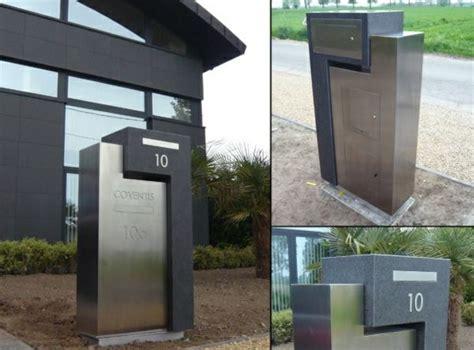 Briefkasten Modern Design moderne briefk 228 sten aus stahl in zwei farben briefkasten