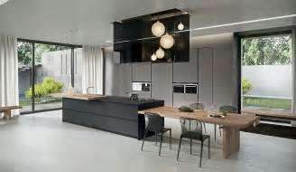 modern kitchen island table kitchen island that offers an extended dining table in wood decoist kitchen
