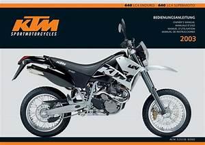 Ktm 640 Lc4 2003 Owner U2019s Manual