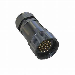 19 Pin Male Inline Solder Connector With Lock Ring For 15