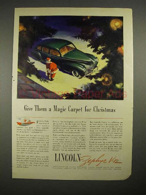 Magic Carpet Auto Transport Reviews by 1941 Lincoln Zephyr V 12 Car Ad Give A Magic Carpet