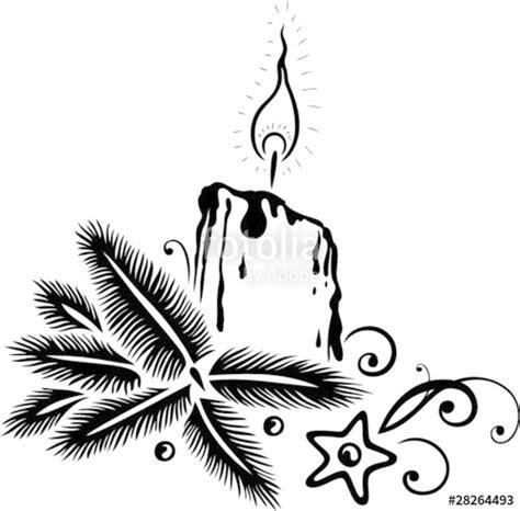 Bilder Advent Schwarz Weiß by Quot Weihnachten Advent Tanne Kerze Vector Quot Stockfotos Und