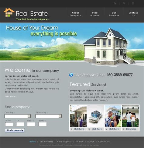 Real Estate Website Templates Free Real Estate Website Template