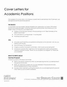 college students job hunting tips and resources With writing a cover letter for an academic position