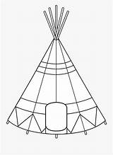 Teepee Tent Coloring Teepees Clipart Clipartkey sketch template