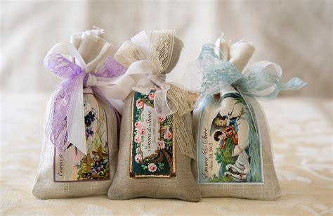 Custom Wedding Favor Sachets / Vintage Soap By