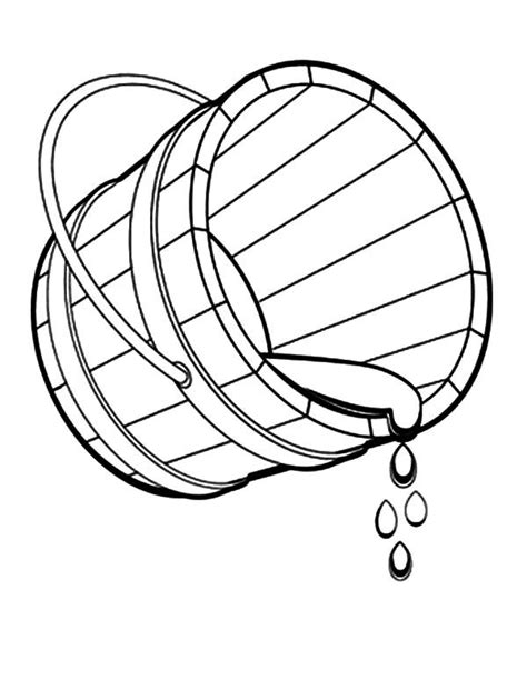 bucket spilling water coloring pages  place  color