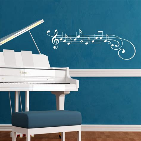 treble clef  notes wall quotes wall art decal wallquotescom
