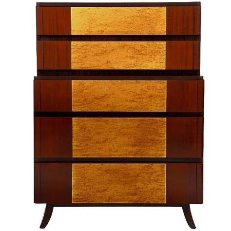 Birdseye Maple Veneer Dresser by Birdseye Maple And Mahogany Highboy By R Way For Sale At