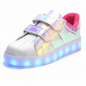 Fashion Children LED light up Shoes For Kids Sneakers Fashion USB Charging Luminous Lighted Boy ...