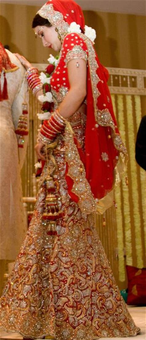 red indian wedding lengha weddingbee photo gallery