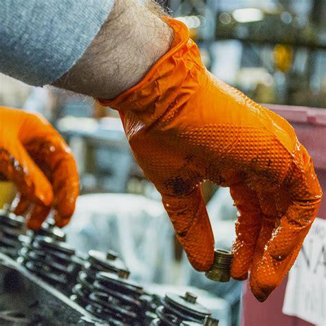 gloveworks hd orange nitrile gloves cpi