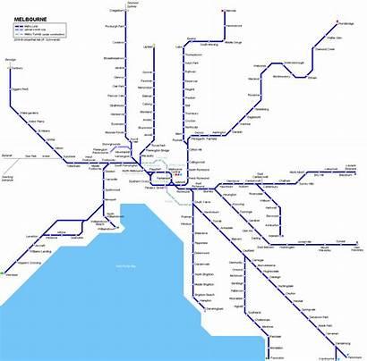 Melbourne Map Train Metropolitan Australia Victoria Metro