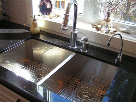 granite countertop with sink modern sink faucet complemented by our black galaxy