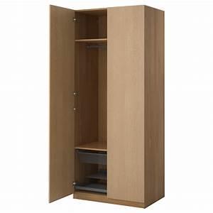 PAX Wardrobe Oak Effectnexus Oak Veneer 100x60x236 Cm IKEA