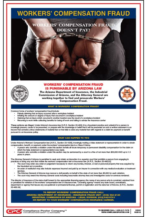 arizona workers compensation fraud poster fraud
